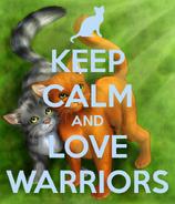 Keep-calm-and-love-warriors!