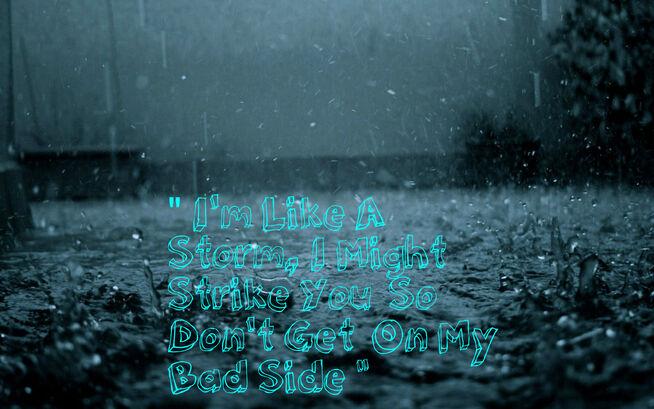 Rain drops at night-wide