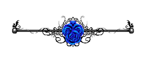 File:Blue rose border silver with dragons by cosmicdragonjazz-d828iwq.png