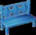 Light blue bench