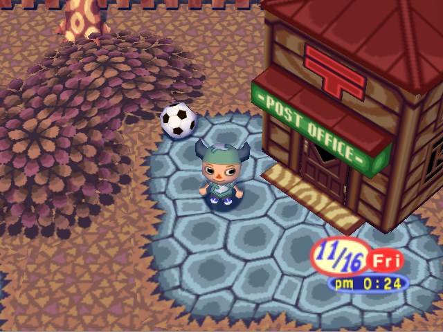 File:Post Office and ball Animal Forest 64.PNG