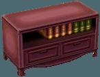 Classic bookcase violet
