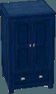 Dark blue cabinet