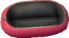 Astro red and black sofa