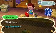Toy hammer new leaf