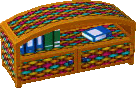 Cabana bookcase colorful