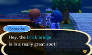 Groucho Talks About a Nearby Bridge