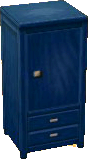 Dark blue wardrobe