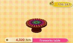 Fireworks Table Catalog