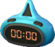 Astro blue and black clock