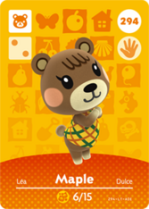 Amiibo 294 Maple