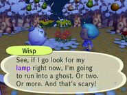 Wisp convicing the player to find his lamp