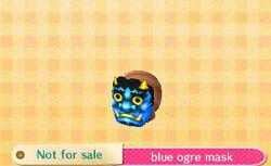 Blue ogre mask