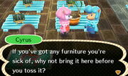 Cyrus Asks For Furniture