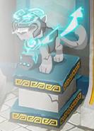 Snow leopard statue wearing spirit armor
