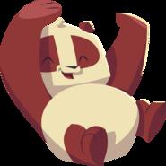 Panda having fun