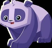 Pink and purple panda