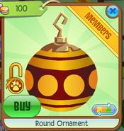 Shop Round-Ornament Dot-Yellow