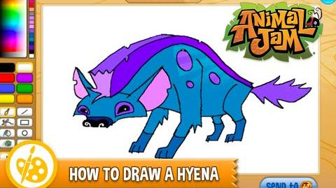 Sketch Jam - How to draw a Hyena (Speed Drawing)