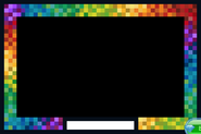 Masterpiece Rainbow-Pixel-Frame