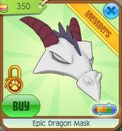 Epic Dragon Mask (White)