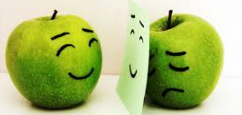 File:Sad apple and a happy apple.png