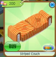Striped Couch (Orange)