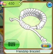 Friendship Bracelet (Pure White, Coloration Variation 05)