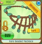 Animal jam rare beaded necklace
