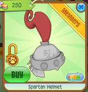 Shop Spartan-Helmet Silver-Red