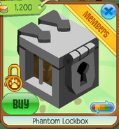 Phantom lockbox clicked