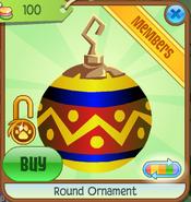 Shop Round-Ornament Zigzag-Yellow
