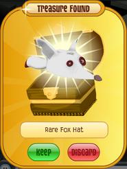 Meet-Cosmo Tiger Rare-Fox-Hat White