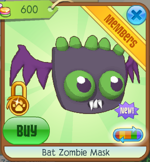 Bat zombie mask animal jam wiki fandom powered by wikia - How to get a bat on animal jam ...