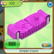 Striped Couch (Fuchsia)