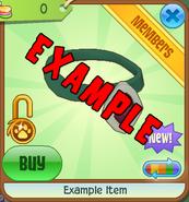Shop Example-Item Green