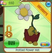 Potted Flower Hat (Yellow)