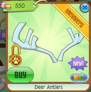 Deer Antlers (Neon Baby-Blue)