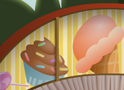 Mushroom-Hut Yellow-Sweets