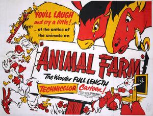 Original 1954 animal farm poster