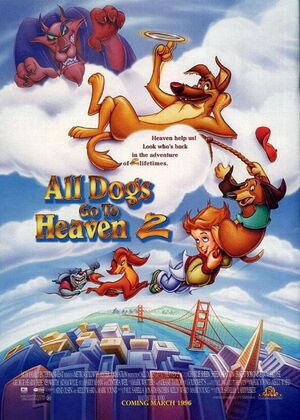 All dogs go to heaven 2 1996 theatrical poster