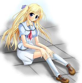 Blondeschoolgirl