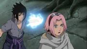 Sasuke attack Sakura