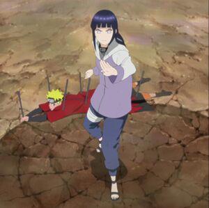 Hinata defends naruto