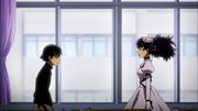 Minene interrogating Yukiteru