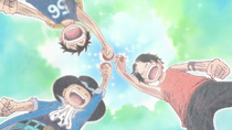 Ace, Sabo, and Luffy Sworn Brothers