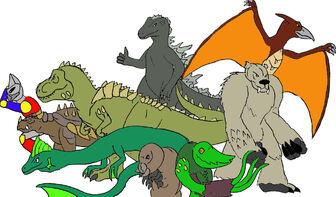 Godzilla and co by raptorrex07-d3dpsfm