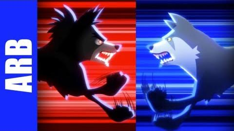 Insanity Wolf vs. Courage Wolf - ANIMEME RAP BATTLES
