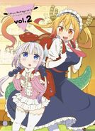 Kobayashi-san Chi no Maid Dragon BD DVD Vol 2