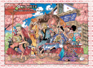 One Piece Ch 802 and US Weekly Shonen Jump Issue October 5 2015 Color Spread